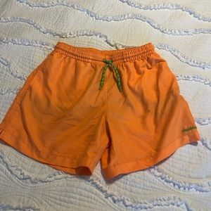 Chubbies Orange Swim Trunks Large